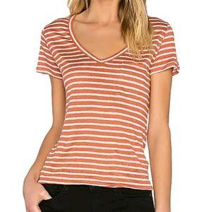 Paige Lynnea 100% Linen Pocket T Shirt Size M